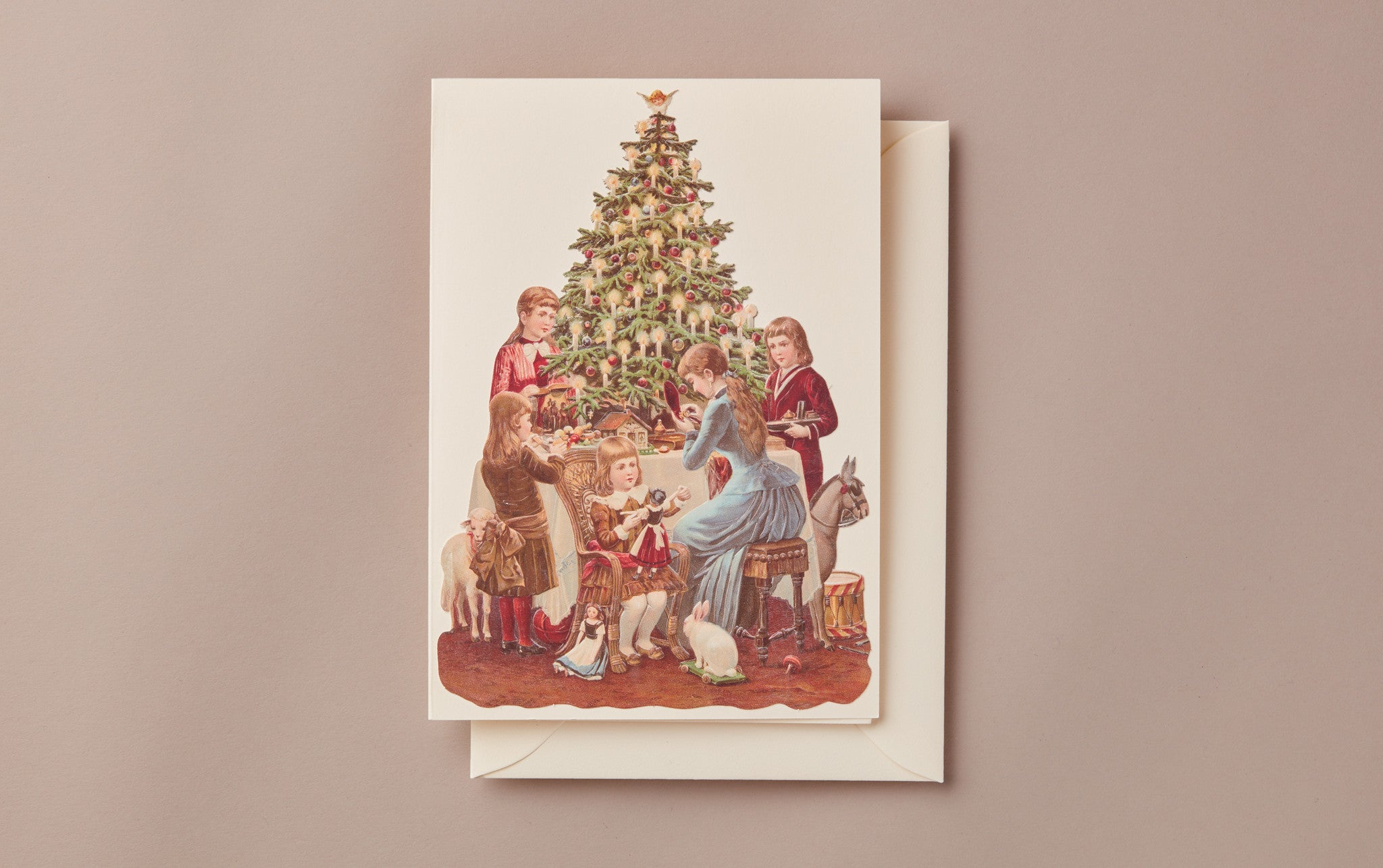Embossed Die Cut Christmas Card, Motif B
