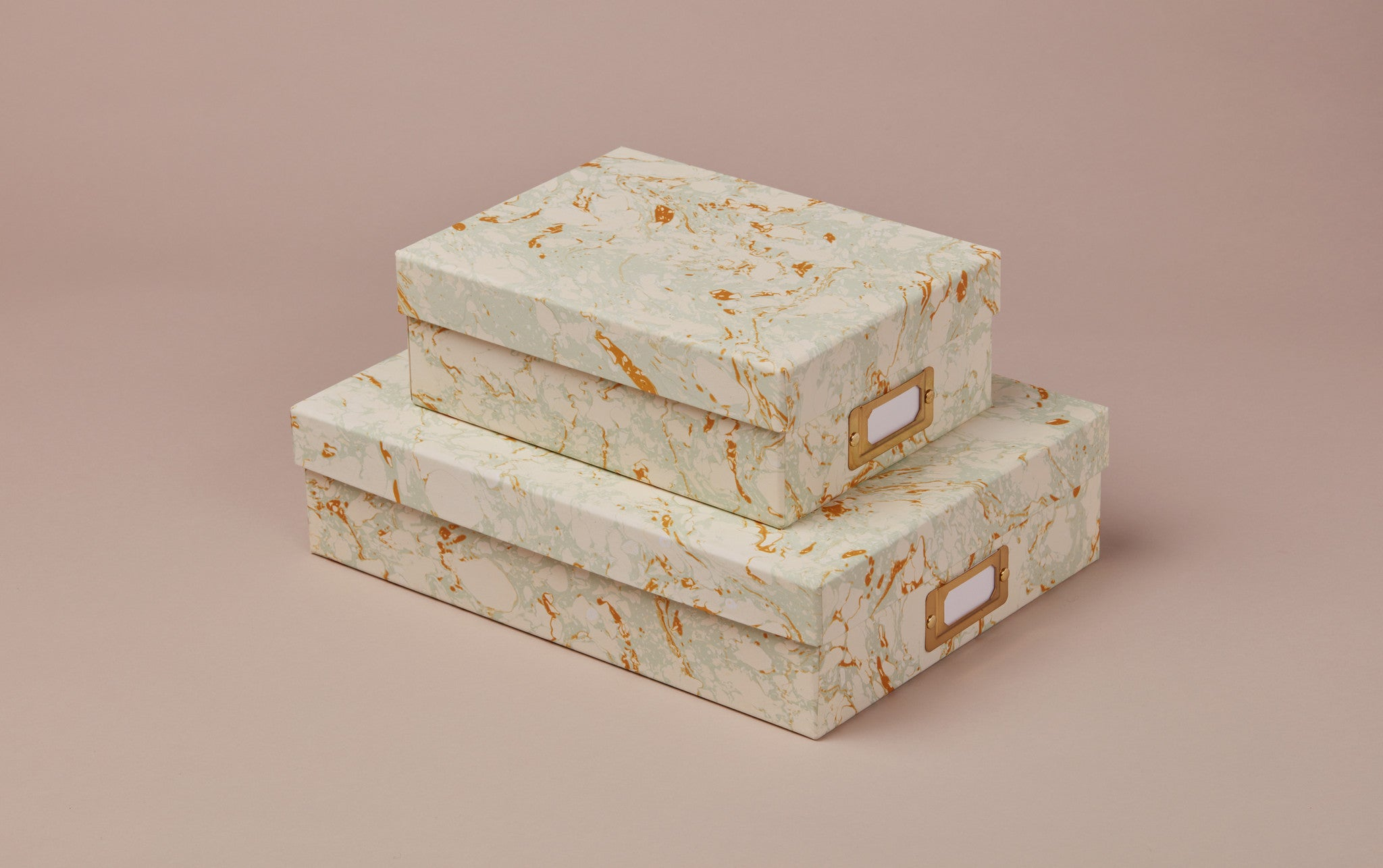 Handmade Marbled Archival Box No.4