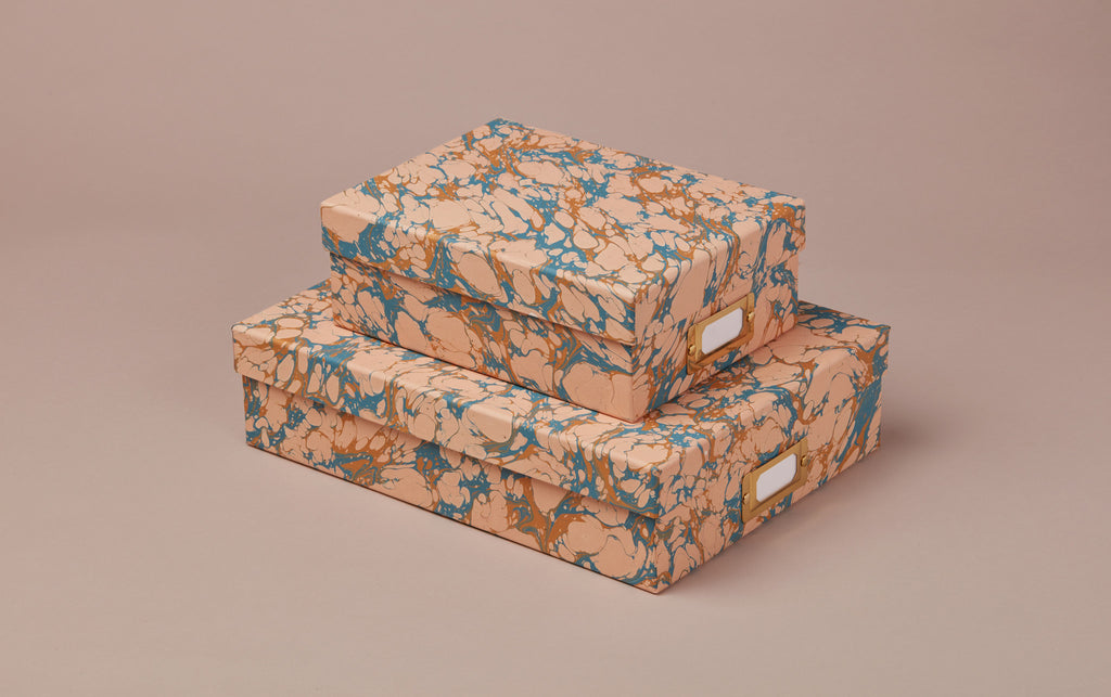 Handmade Marbled Archival Box No.8