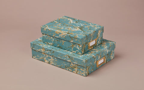 Handmade Marbled Archival Box No.5