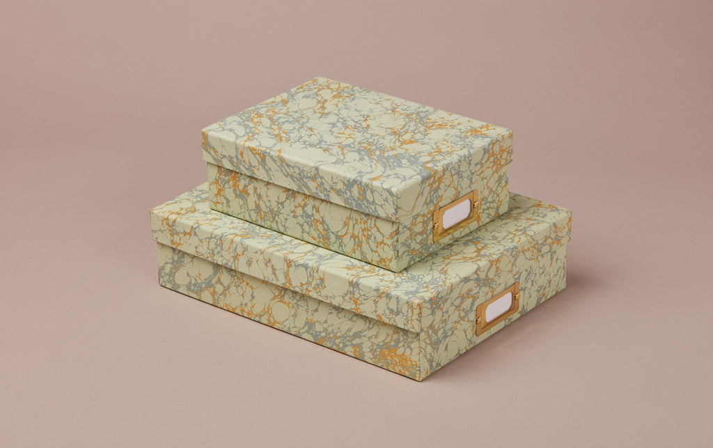 Handmade Marbled Archival Box No.1