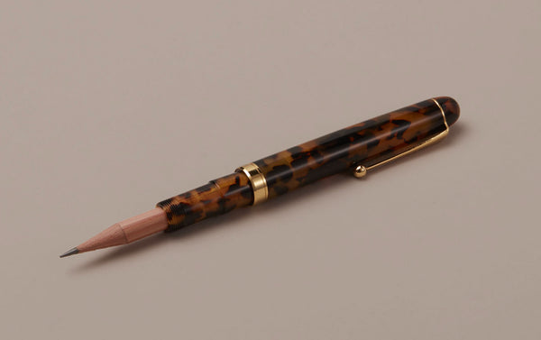 Ohnishi Seisakusho Tortoise Shell Celluloid Pencil Extender and Holder