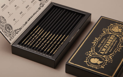 Lothar Von Faber Polygrades box of 12 Pencils, special edition
