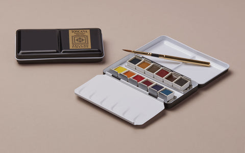 Zecchi 12 Watercolour Travel Set