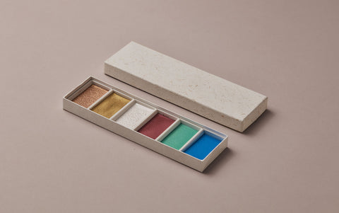 Japanese Metallics Watercolour Set, No. 1