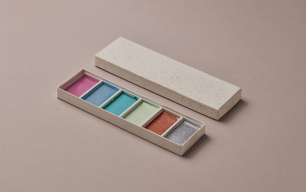 Japanese Metallics Watercolour Set, No. 2