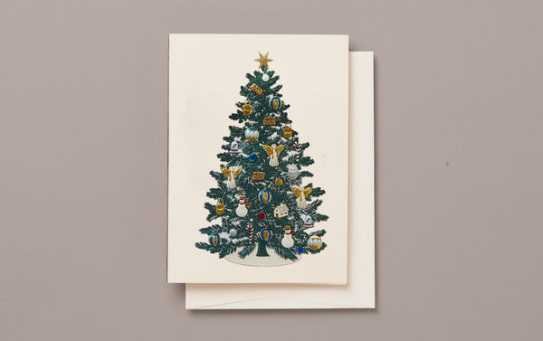 Engraved Christmas Tree Card