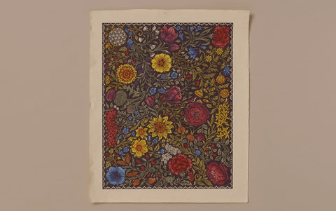 J Jeffery Paper, Sunflowers Pattern No. 3