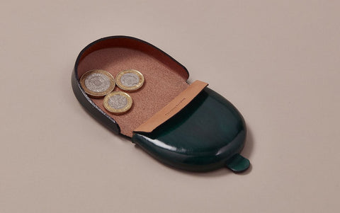 Green Choosing Keeping Leather Coin Purse