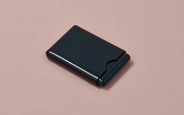 Green Choosing Keeping Leather Card Holder