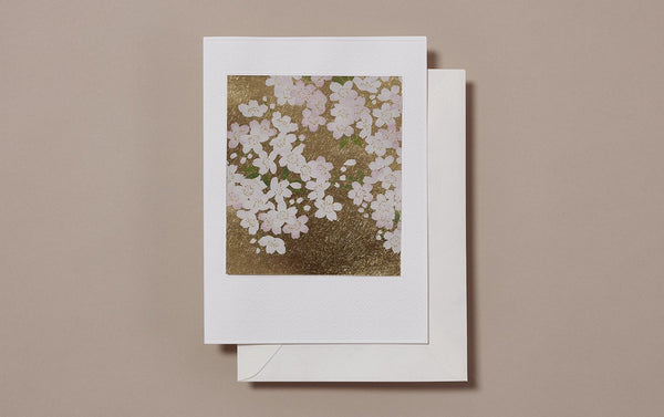 Large Gold Foil Cherry Blossom Greeting Card