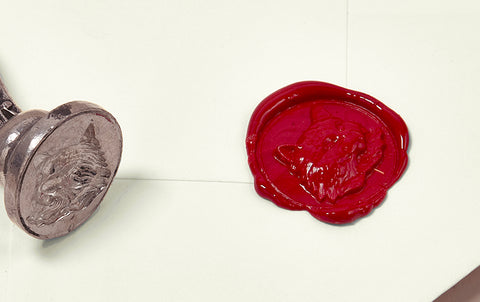 French Wax Seal, Cheshire Cat