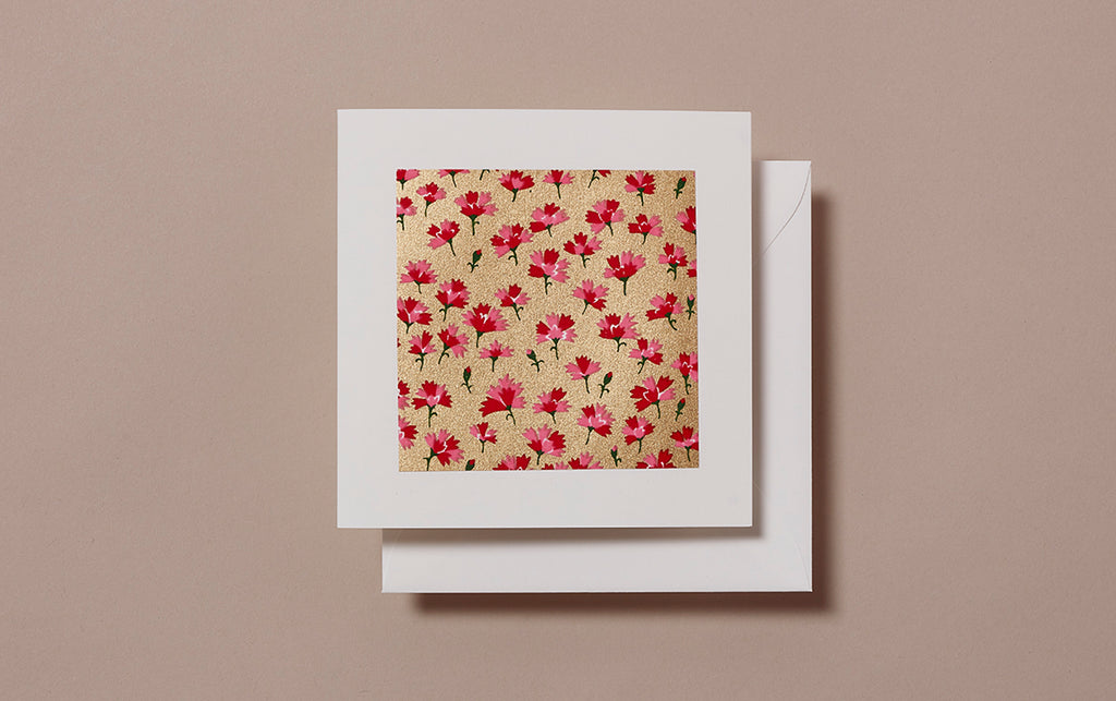Chiyogami No.14 Square Greeting Card