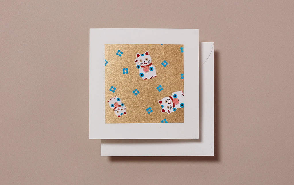 Chiyogami No.15 Square Greeting Card