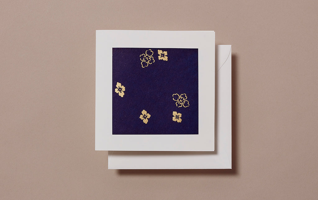Chiyogami No.17 Square Greeting Card