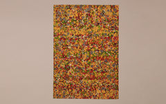 Extra Large Tiger-eye Hand marbled Paper Sheet, No.6