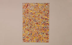 Hand marbled Paper Sheet, Pollock