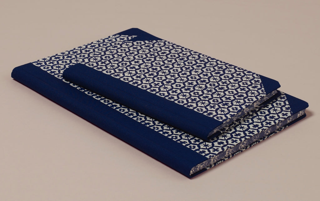 "Hardback ""Composition Ledger"" Katazome Notebook, Honeycomb"