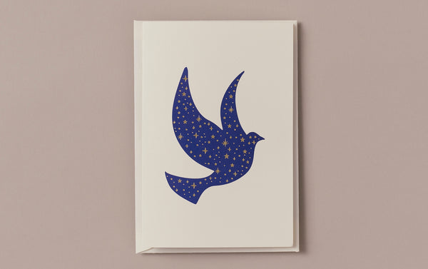 Engraved Night Peace Dove Greeting Card