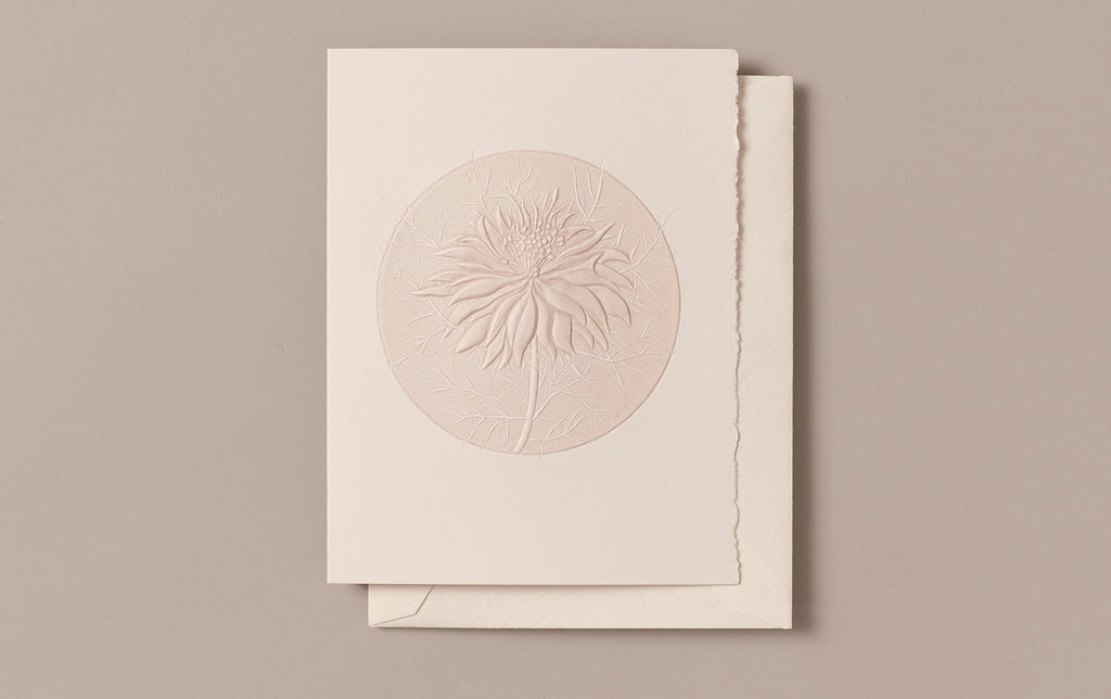 Engraved Love in the Mist Greeting Card