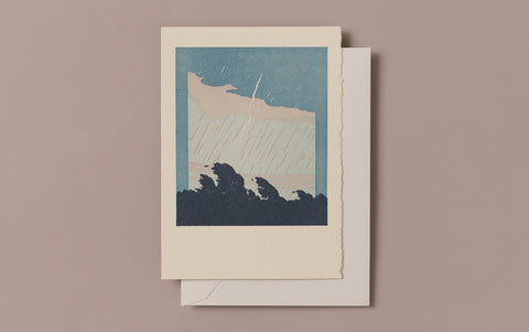 Letterpress Storm and Lightning Greeting Card