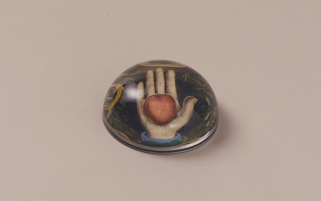 John Derian Paperweight, Heart in Hand