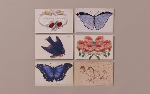 Set of 6 Victorian Ephemera Postcards