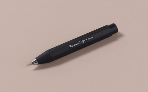 Matte Black Aluminium Kaweco AL Sport 0.7mm Mechanical Pencil