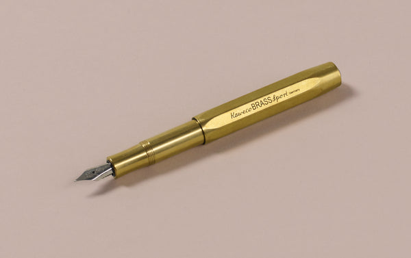 Brass Kaweco Sport Fountain Pen