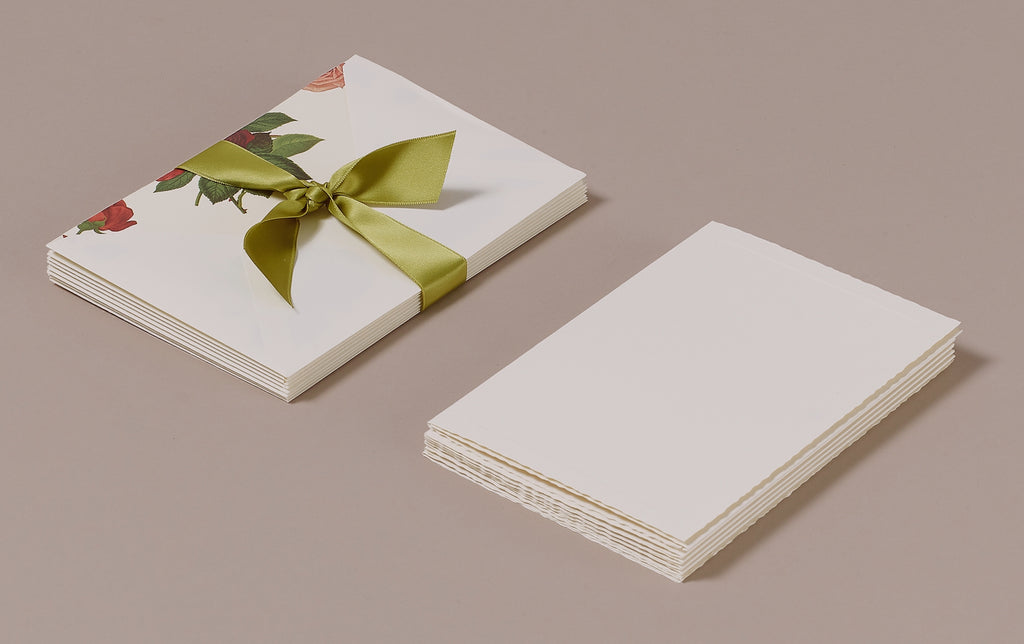 "10 Cards and Envelopes - Letter Writing Set ""Roses"""