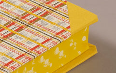 "Extra-Thick ""Composition Ledger"" Chiyogami Notebook, Yellow Tartan"