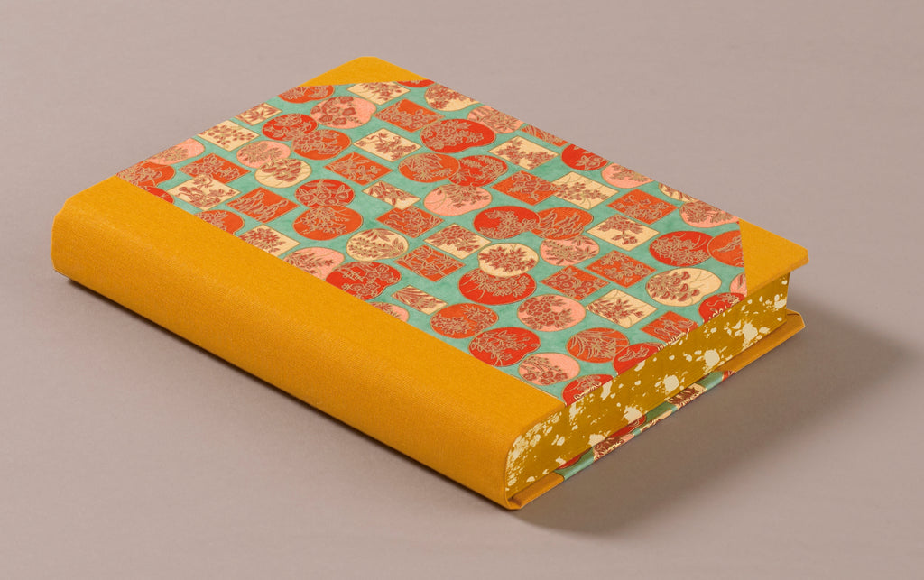 "Extra-Thick ""Composition Ledger"" Chiyogami Notebook, 1960s Japan"