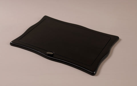 Luxury Black Leather Sottomani Desk Pad