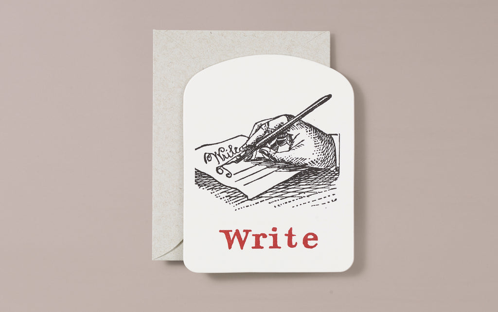 Letterpress Write Greeting Card