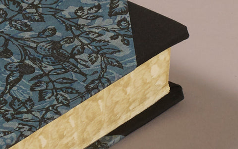 "Extra-Thick ""Composition Ledger"" Dutch Gilt Notebook, Blue Flora and Fauna"