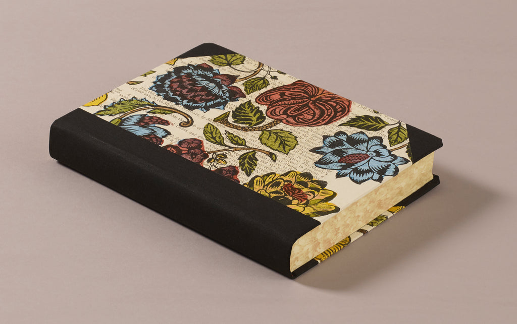 "Extra-Thick ""Composition Ledger"" Dutch Gilt Notebook, British Flora"