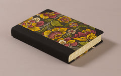 "Extra-Thick ""Composition Ledger"" Dutch Gilt Notebook, German Flora"
