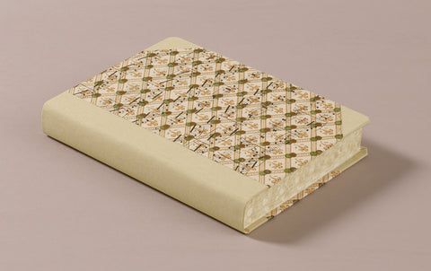 "Extra-Thick ""Composition Ledger"" Dutch Gilt Notebook, Music and Dots"