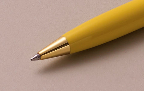 Ohnishi Seisakusho Canary Yellow Celluloid Ballpoint Pen
