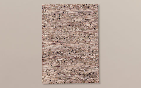 Extra Large Tiger-eye Hand marbled Paper Sheet, No.8