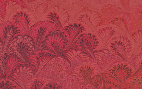 Hand marbled Paper Sheet, Comb No.1