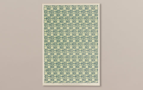 Italian Woodblock Paper Sheet, Venice in Green