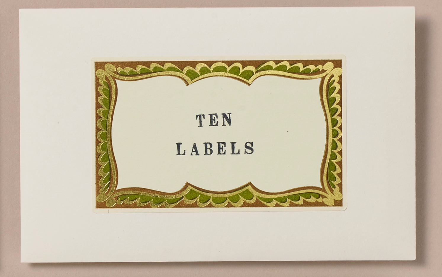 Choosing Keeping Gold Foiled Traditional Decorative Labels
