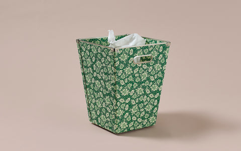 Liberty print Waste Paper Bin, Green