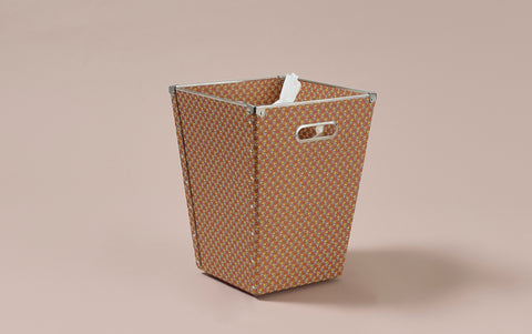 Liberty print Waste Paper Bin, Brown Apples