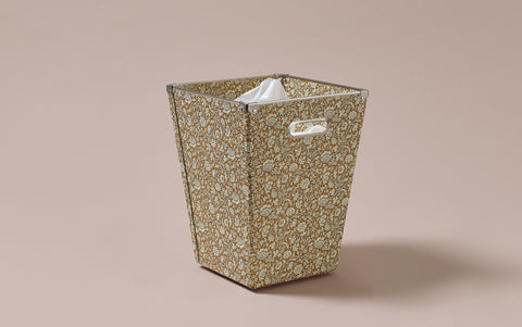Liberty print Waste Paper Bin, Mustard Yellow
