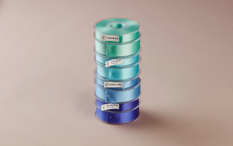 Premium Quality Swiss Ribbon, 25m roll - Blues