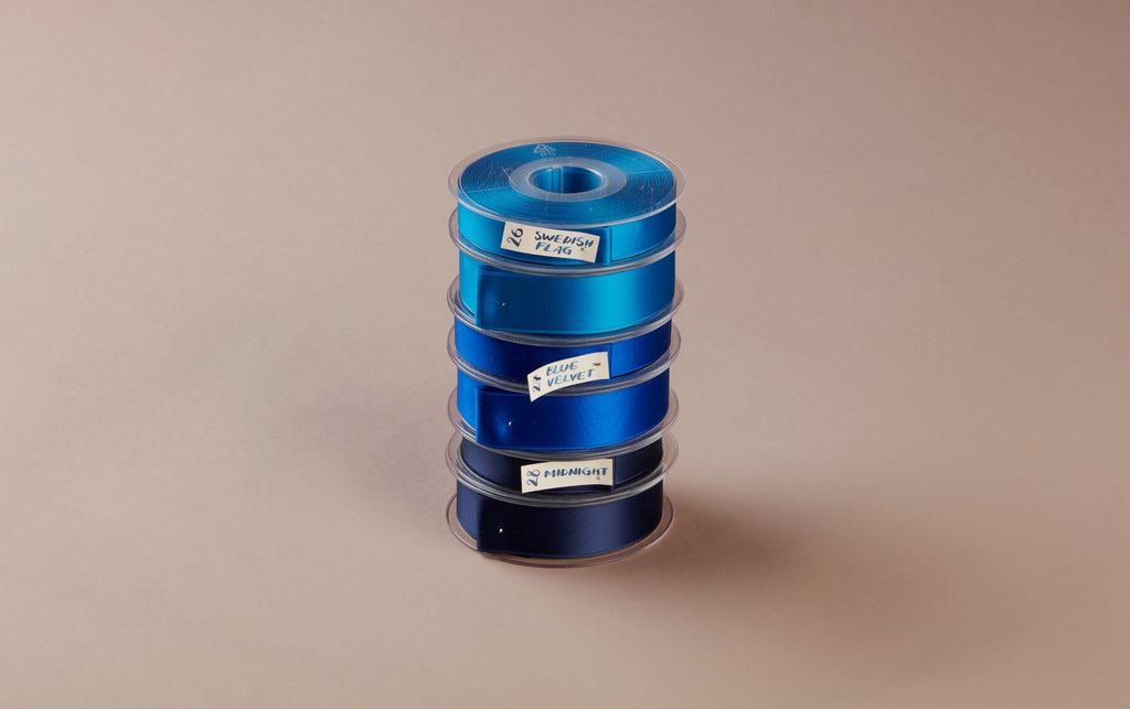 Premium Quality Swiss Ribbon, 25m roll - Dark Blues