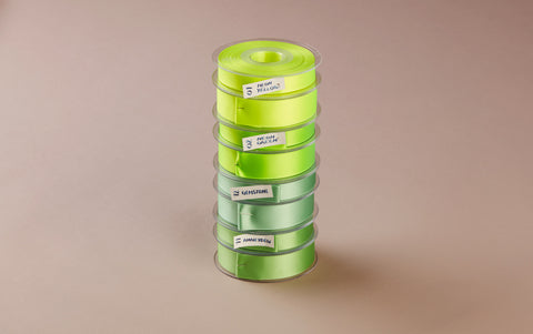 Premium Quality Swiss Ribbon, 25m roll - Light Green
