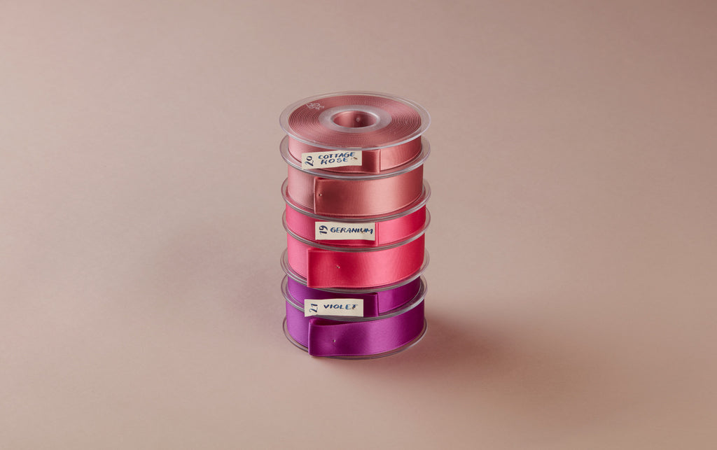 Premium Quality Swiss Ribbon, 25m roll - Purples